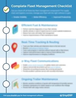 Complete Fleet Management Checklist Preview