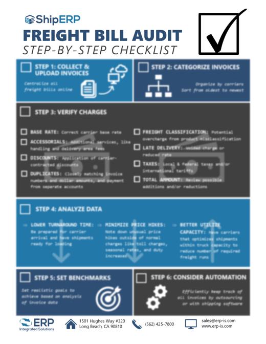 Freight Bill Audit Checklist blurred